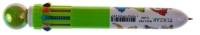 Ручка авт 10-тицветная Funny Birds перламутровый шар-кнопка в основании корпуса рисунок с птичками TZ4394